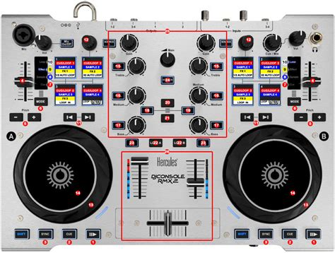 dj console hercules dj console rmx 2 dj promixer