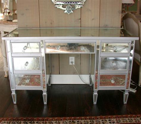 Mirrored Desks And Vanities by 7 Drawer Mirrored Vanity Desk At 1stdibs