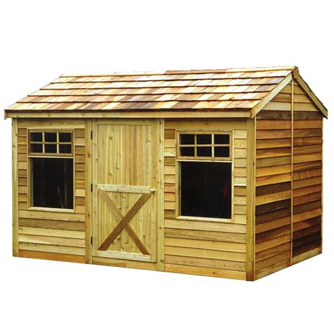 shop cedarshed haida gable cedar storage shed common