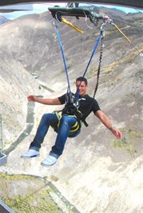 nevis arc swing dan carter launches from world s highest swing infonews