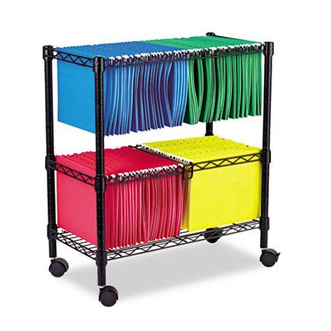rollen wagen alefw601426bl alera 174 two tier rolling file cart zuma