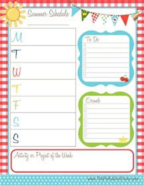 daily summer schedule printable 10 best images about diy planner on pinterest life