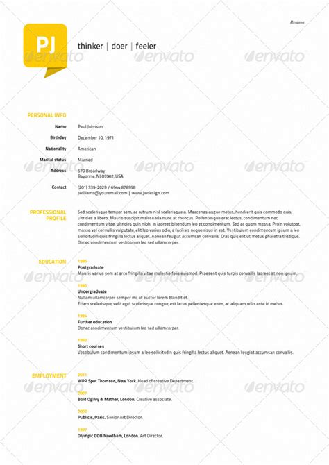 Resume 5 Pages by Resume Template 5 Pages With Map By Ennya