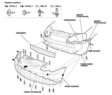 how do i remove front driver side fender for 2002 honda how to remove front fender off 2007 acura tl 91512 sx0 003 genuine honda clip fender inner