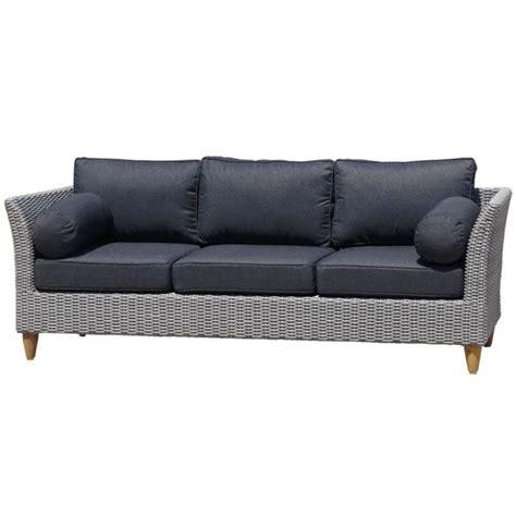 outdoor 3 seat sofa carolina outdoor 3 seat lounge sofa in brushed grey buy