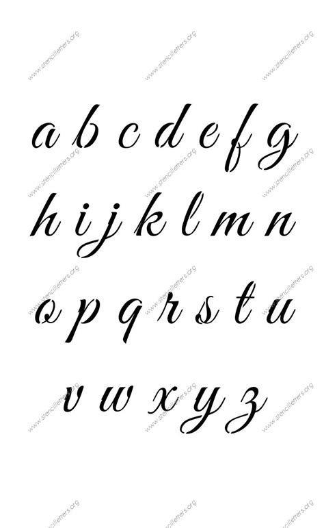 lowercase tattoo font fancy writing styles a to z elegant calligraphy uppercase