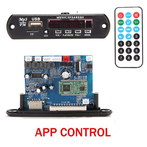 Tf Sw Wifi Led Module Controller app bluetooth 4 0 mp3 decoding board module 2 10w power lifier tf card usb fm ape