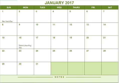 2017 full year calendar excel templates for every purpose