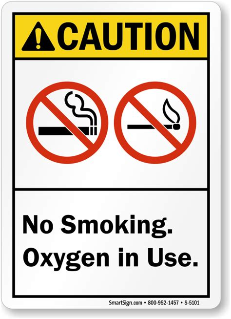 no smoking sign use no smoking oxygen in use sign sku s 5101 mysafetysign com