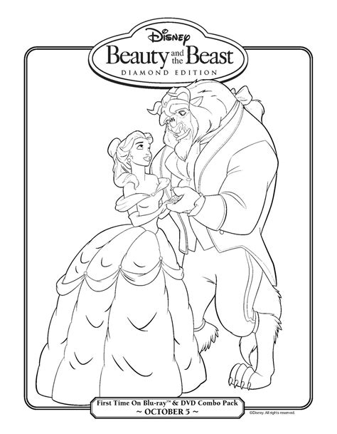 beauty and the beast coloring pages games high def universe