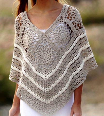 cape pattern pinterest poncho free crochet pattern in spanish crochet diagram
