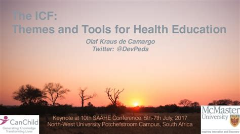 themes for education conferences the icf themes and tools for health education