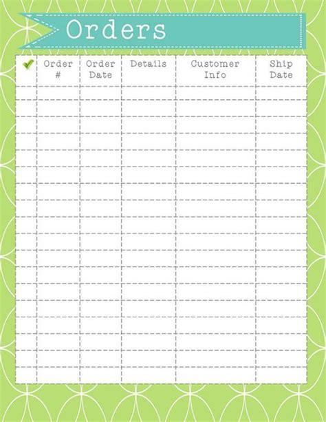 printable custom order forms order form printable instant download order organization