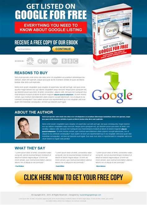 landing page designs for capture leads and increase sales 2015