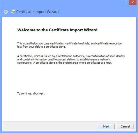 install google certificate install client digital certificate win