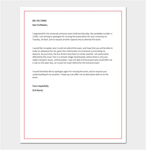 Apology Letter Format For Being Absent Without Notice apology letter for being absent in school sle format