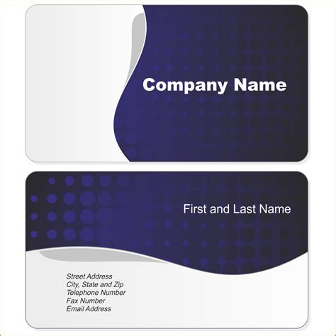 free business card templates for word business template