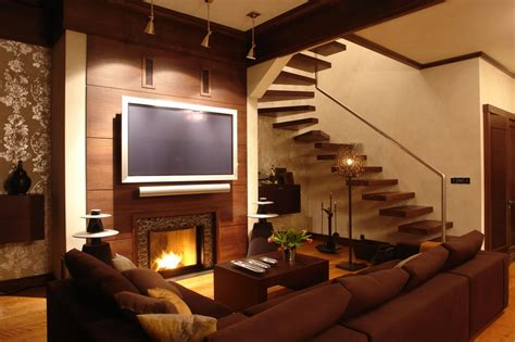 Home Interior Design Tv Unit by 33 Living Room Designs With Beautiful Woodwork Throughout