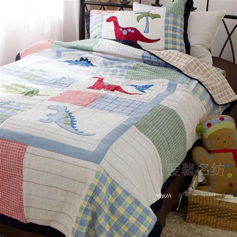 quilted coverlet twin twin kids dinosaurs cotton quilted bedspread quilt cartoon