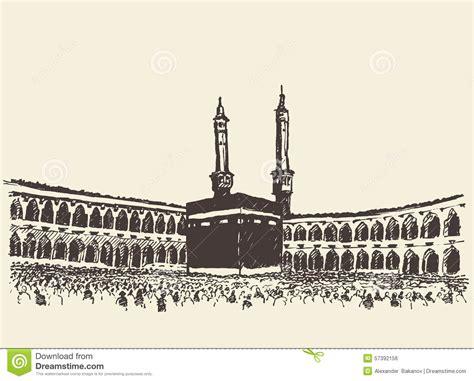 Poster Islami Kaaba Kabah Masjidil Haram Mekah Arab 09 Ukuran 60x90cm mosque clipart makkah pencil and in color mosque clipart