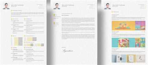 cv resume cover letter portfolio design template