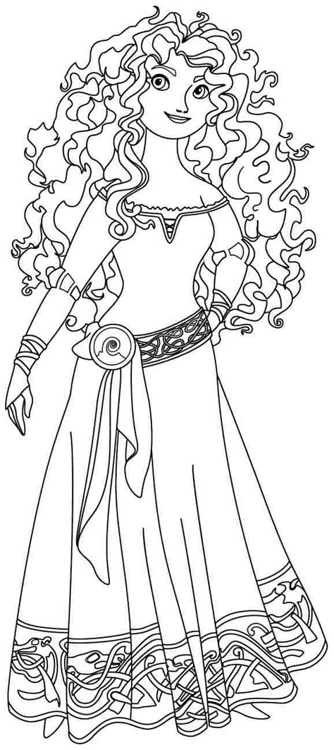 Brave Coloring Pages Getcoloringpages Com Disney Princess Merida Coloring Pages Printable