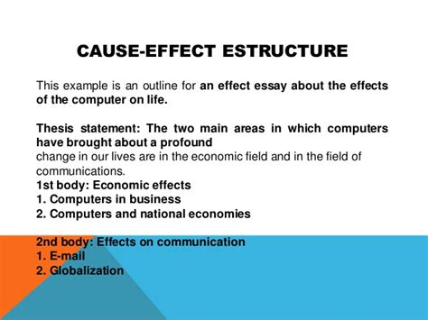 Sle Of Cause And Effect Essay by A Cause And Effect Essay
