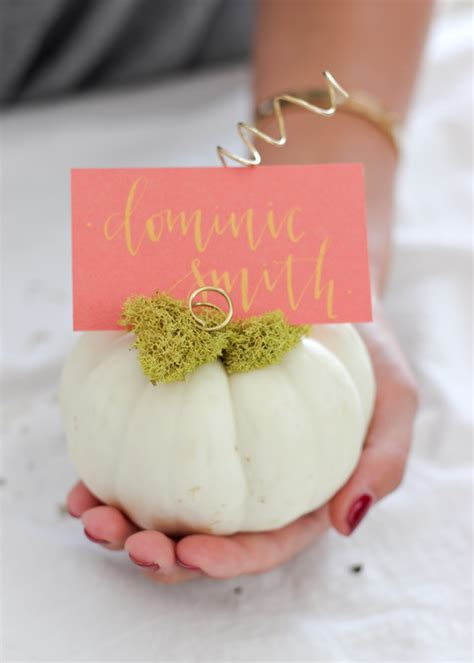 diy gold place card holders kristi murphy diy ideas these 24 thanksgiving place card diys will set the table right