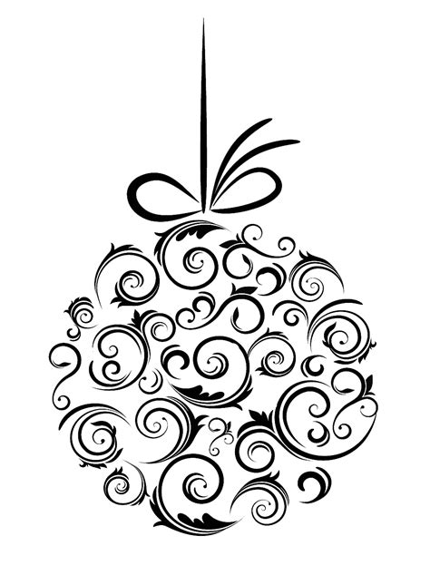 black and white christmas ornaments black and whit