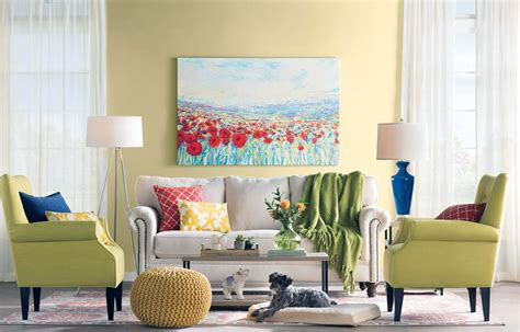 bright yellow living room living room d 233 cor on a budget designing idea