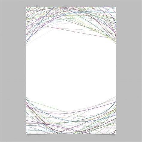 Kostenlose Vorlage Briefpapier briefpapier vorlage mit chaotischen geschwungenen streifen