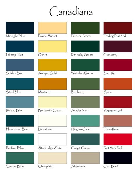 paint color names homestead house paint company toronto ontario canada