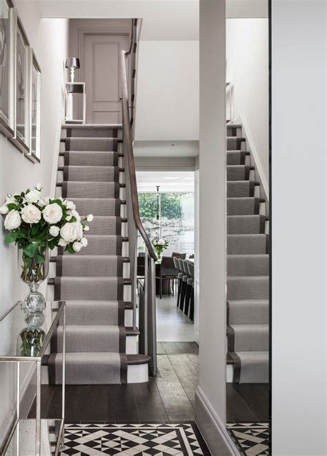 london contemporary stair runners staircase with grey