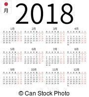 Calendrier Lundi Calendrier 2018 Lundi Arabe Annuel Simple Calendar