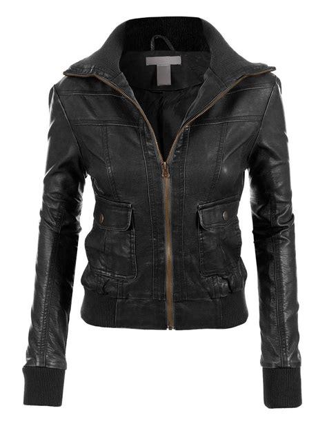 biker jacket layout le3no womens faux leather zip up biker moto jacket