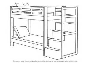 Step 2 Bunk Bed Learn How To Draw A Bunk Bed Furniture Step By Step