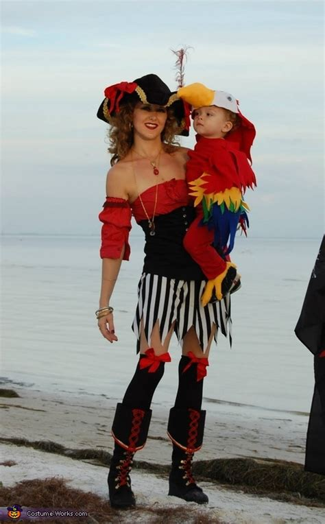 pirates   parrot family halloween costume photo
