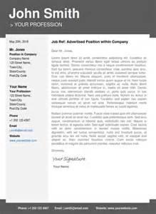 professional resume template cover letter portfolio