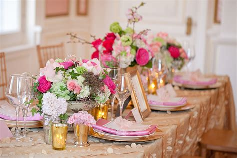 green gold decorations vintage pink green and gold wedding decor ideas
