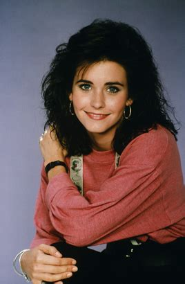 then courteney cox as miller in family ties 1987