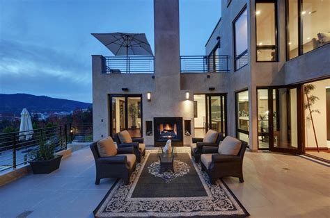 crest home design nyc eye catching modern outdoor fireplaces turn the patio