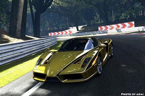 golden enzo enzo gold chrome gran turismo 5 by mr adai