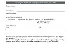 absence template absence forms for employees images