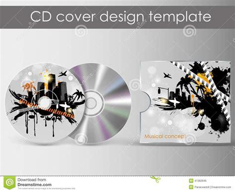 cd jacket design template cd cover presentation design template stock vector image