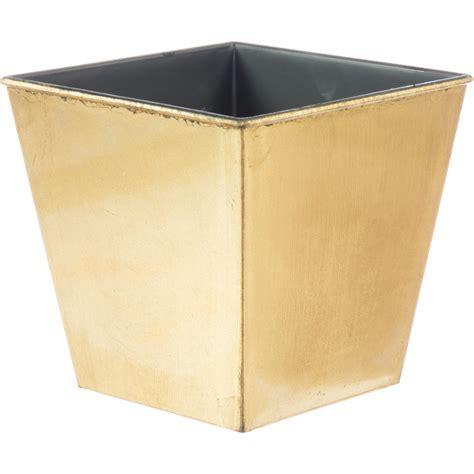 5 Quot Square Lacquer Planter Metallic Gold P0220xgld Square Planters