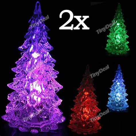 2 x christmas tree style crystal flashing led lights