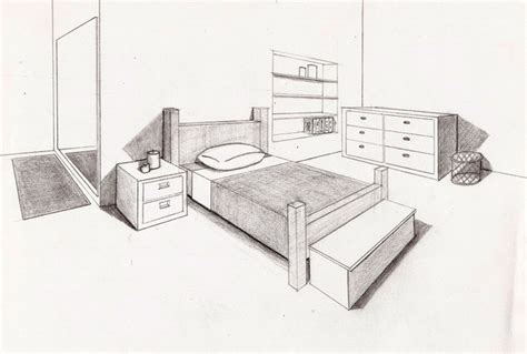 bedroom perspective drawing perspective bedroom by gilstrap on deviantart