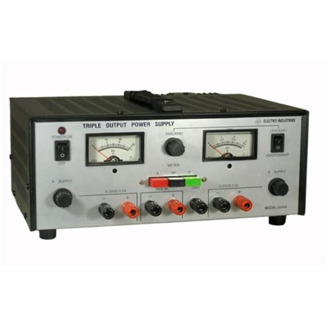 bench power supplies triple output dc laboratory bench power supply
