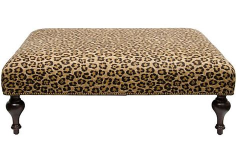 Animal Print Ottomans Ralph Leopard Print Upholstered Ottoman On Onekingslane Tx Home Ralph