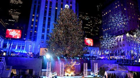 The Rockefeller Center Christmas Tree Lights Up For The